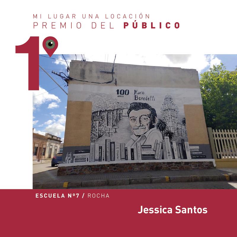 Fotografía ganadora del premio del público. Mural de Mario Benedetti