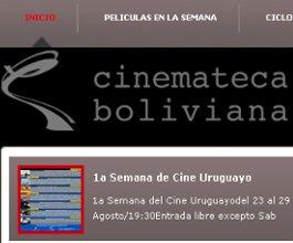 Ciclo de Cine uruguayo en Bolivia